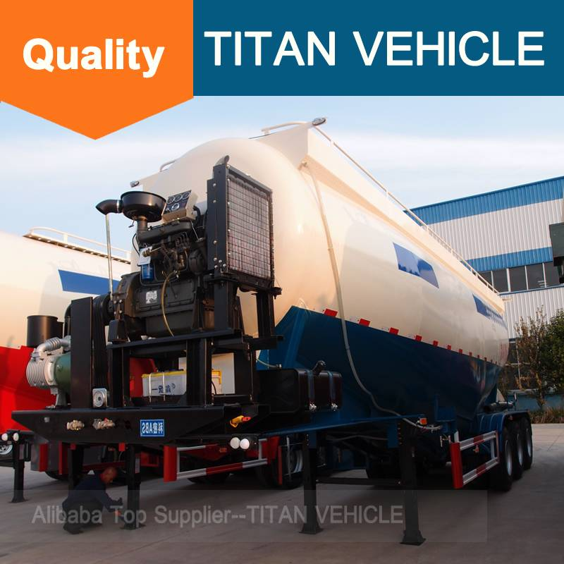 Titan Vehicle V Type Cement Semi Trailer Other Trailers Use bulk cement powder tanker