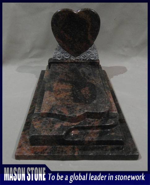 Heart shape Indian Aurora Tombstone