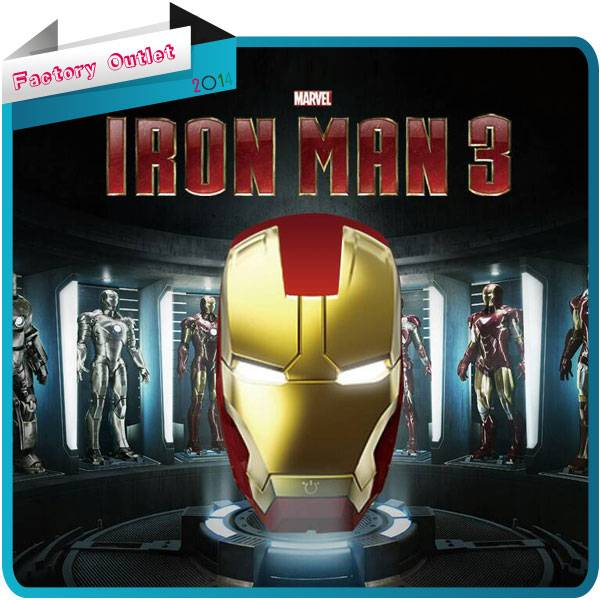 High Capacity 5200mAh Iron Man Power Bank for mobile phone