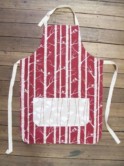Full color printed linen apron cotton twill tape tie