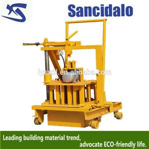 QT40-3C easy operate manual cement brick making machine