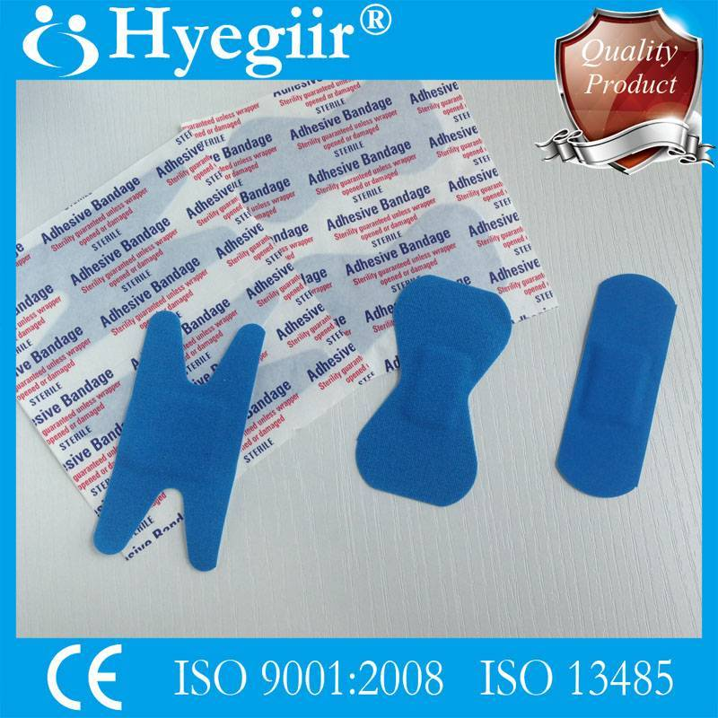 Blue wound plaster