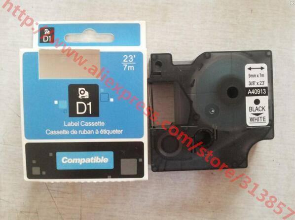 compatible DYMO D1 label tape 40913 White Bottom black Word tape Cassette For label Printer