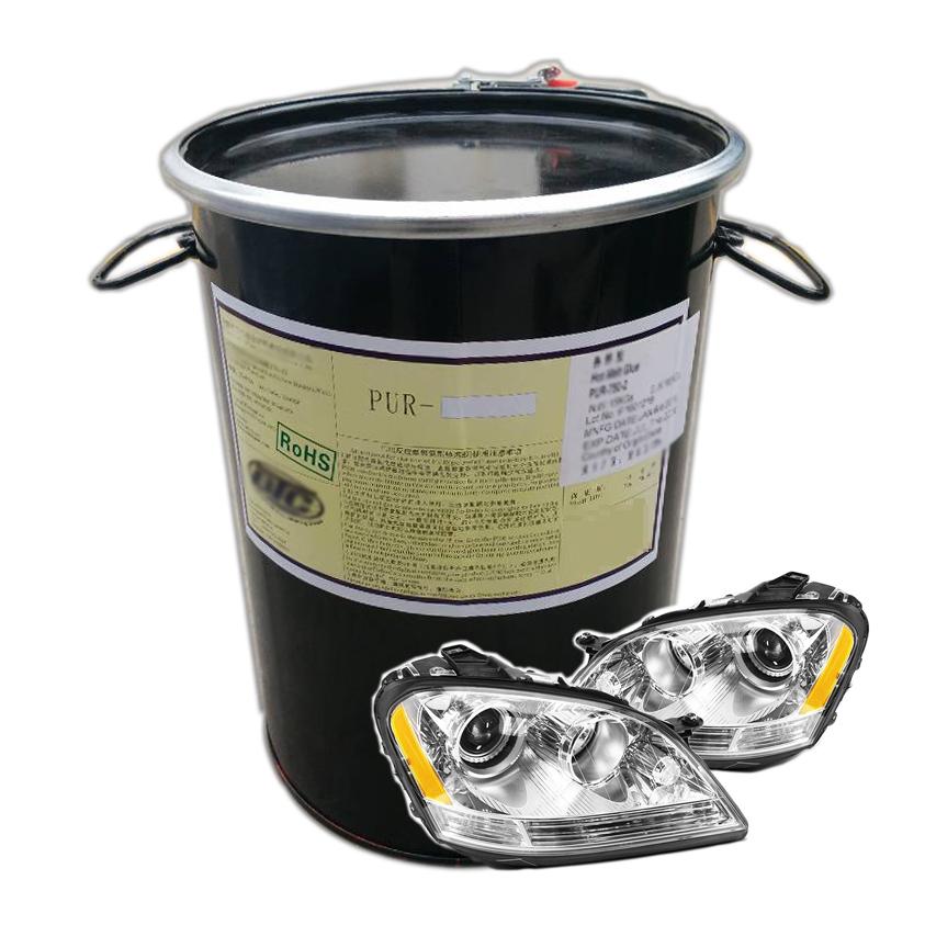 PU reactive hotmelt adhesive for automotive headlamp