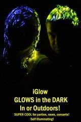 iGlow Glow in the Dark Hair gel. New Novelty Party product. Creates its own light in and out doors.