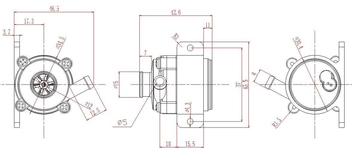 WDB-18C-24V brushless pump for water dispensers
