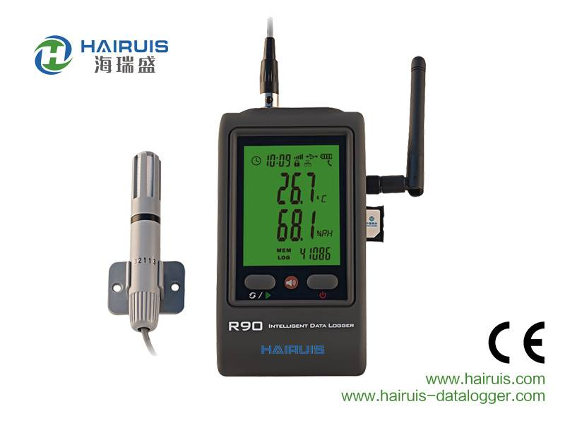GPRS wireless temperature humidity data logger