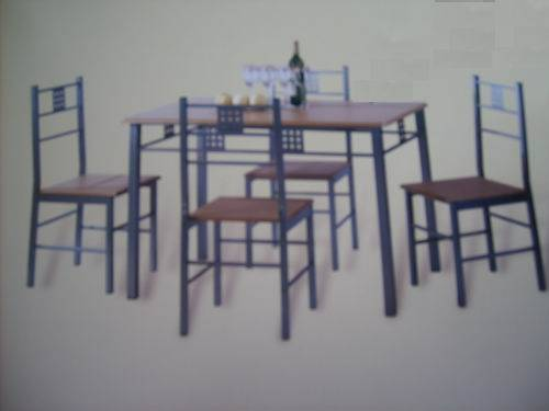Best Selling MDF And Aluminium Table /chair Set Model1511