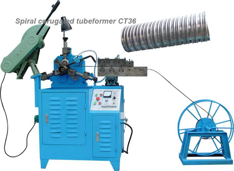 Post tension corrugated duct machine
