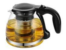 High clear glass tea&coffee pot with 304#S/S filter in 1000ml
