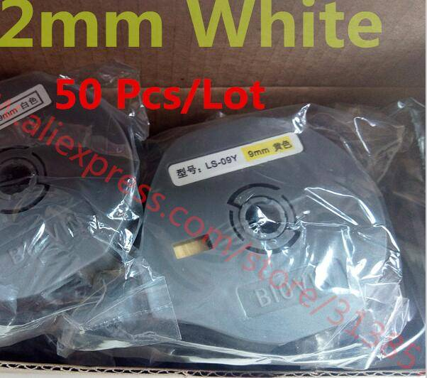 Cable Marker ID Printer White Label Tape Cassette LS-12W For Electronic Lettering Machine S650