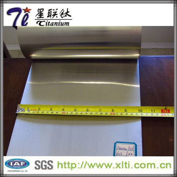 High Quality Pure ASTM B265 0.2mm Vacuum Titanium Foils