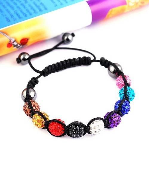 DIY Beads Shamballa Bracelet Fashion Jewelry Small MOQ Acceptable