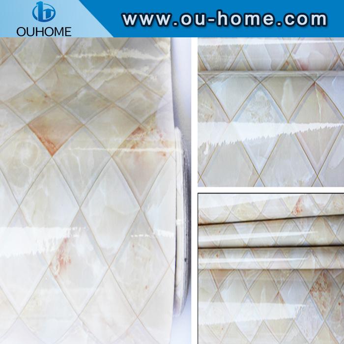 Modern 3d design marble wallpaper sticker