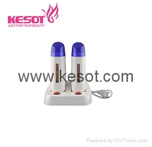 Double deplitory wax heater
