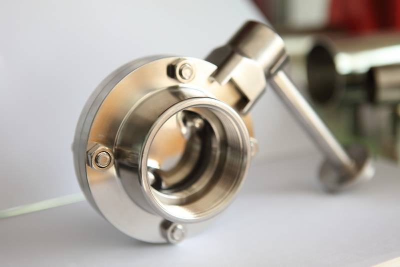 Stainless steel Sanitary butterfly valve female