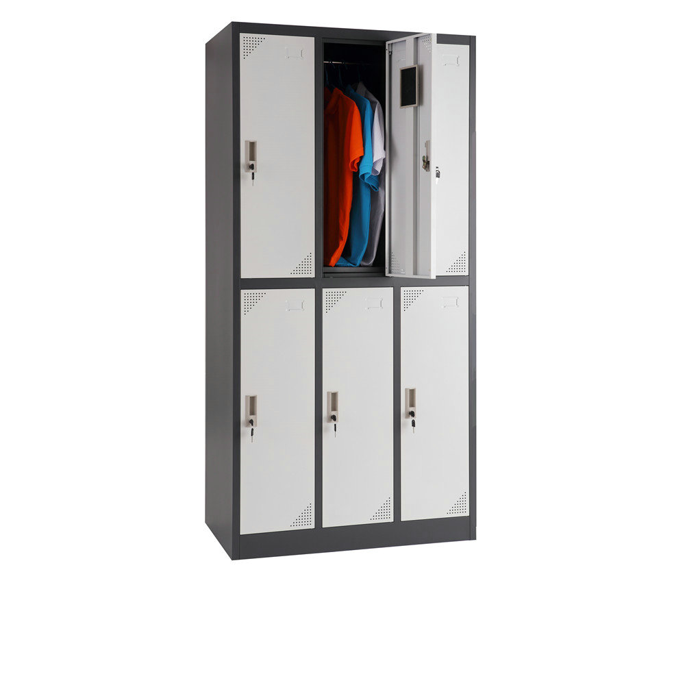 Quality 6 doors metal locker steel locker