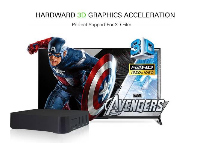 Android Media Box IPTV TV Box Hardward 3D graphics acceleration HR-GT83A