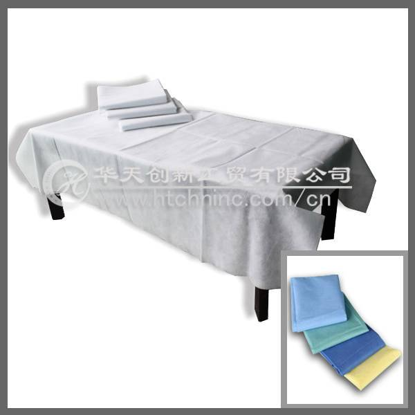 disposable pp nonwoven bed sheet/medical bed sheet/spa bed sheet/beauty salon bed sheet