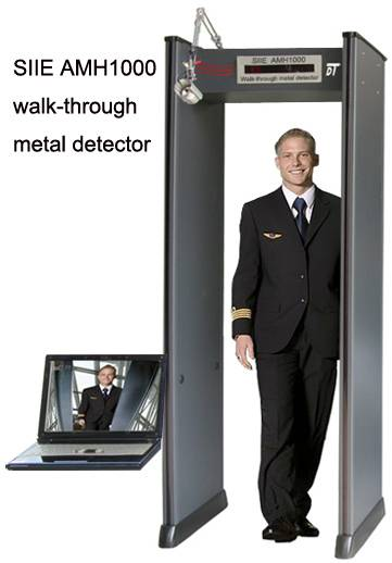 ModelNoAMH1000 Walk-Through multi zones metal detector with camera and computer