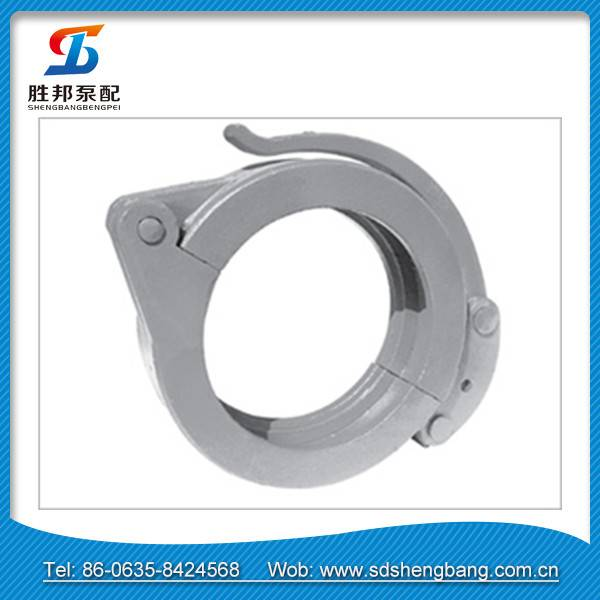 Pipe quick connect concrete pump clamp coupling