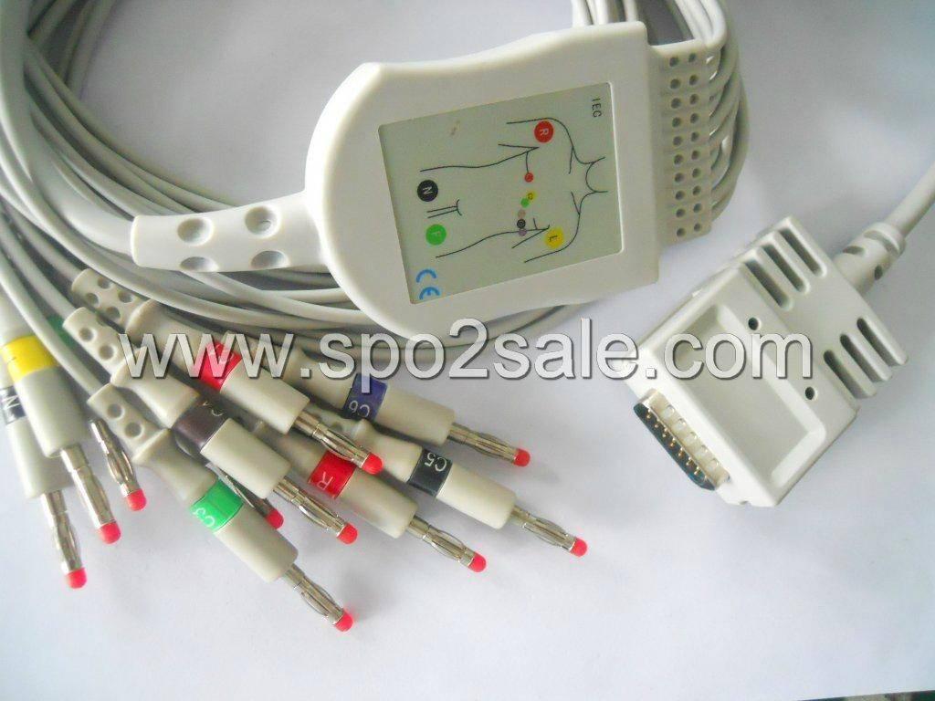 Burdick 012-0700-00 EK-10 one piece EKG cable with leadwires