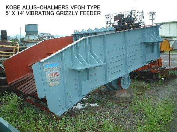 USED KOBE ALLIS-CHALMERS VFGH TYPE 5 ft X 14 ft VIBRATING GRIZZLY FEEDER