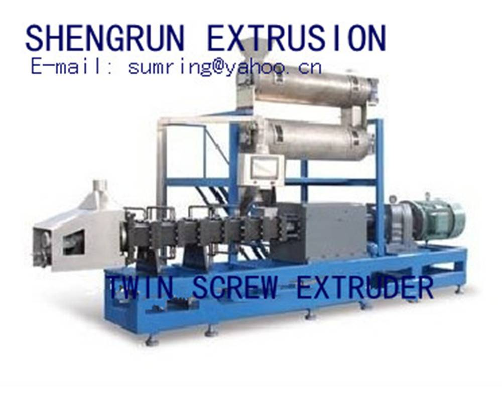 china double screw pet food extruder machine