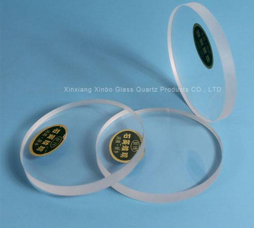 half round quartz glass plate with high quality