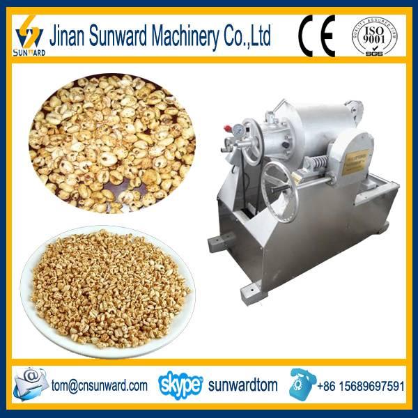 On hot sale good quality puffed wheat making machine