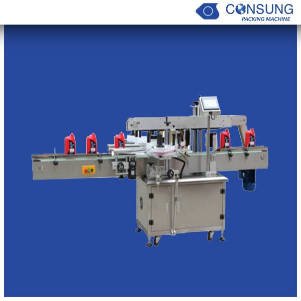 both sides round bottle stick labeling machine