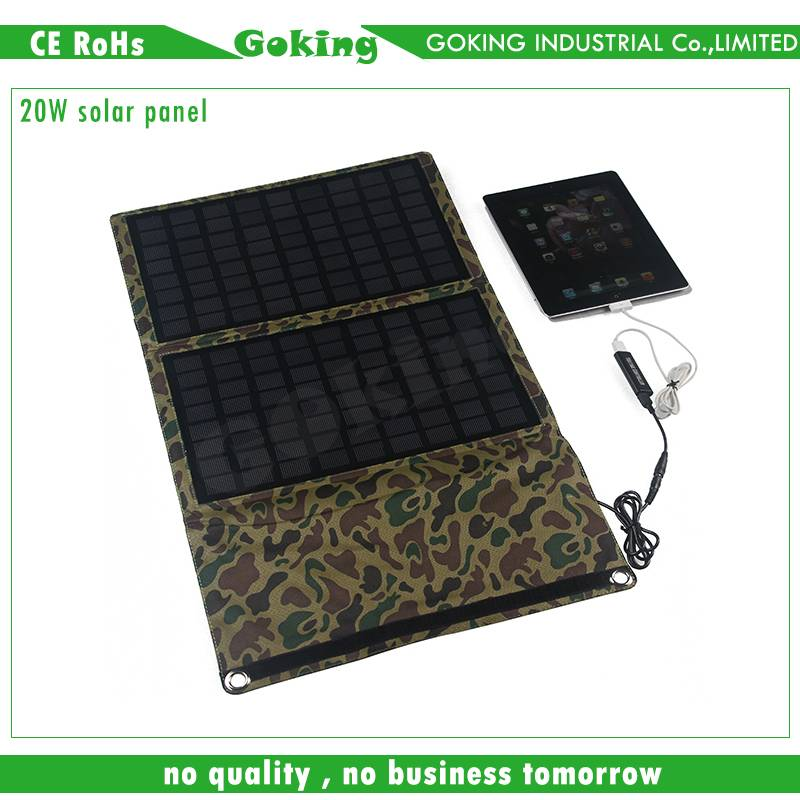 10W Portable Folding Solar Panels, Charge for Laptops, Mobile Phones