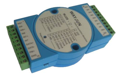 8 input channels 0-10V to RS485 converter