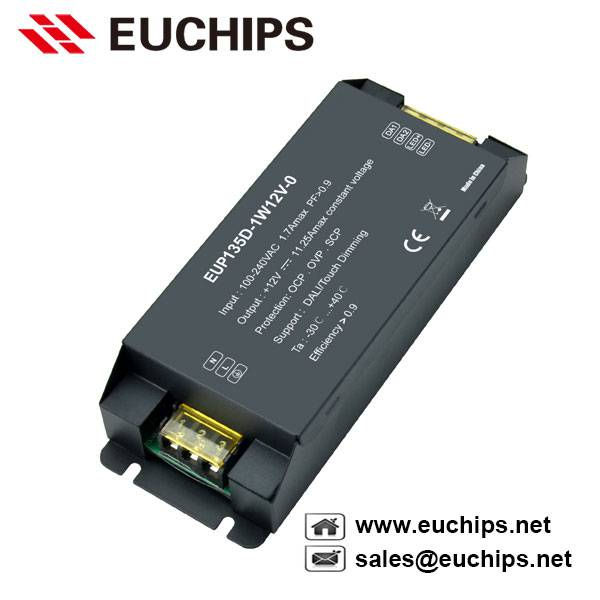 135W 12VDC constant voltage dali dimmable led driver EUP135D-1W12V-0