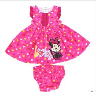baby romper for new born baby pink and red mickey clothes set