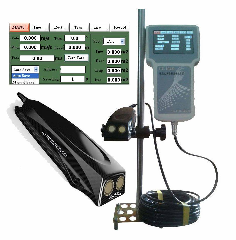 Portable Doppler Flow Current Velocity Meter