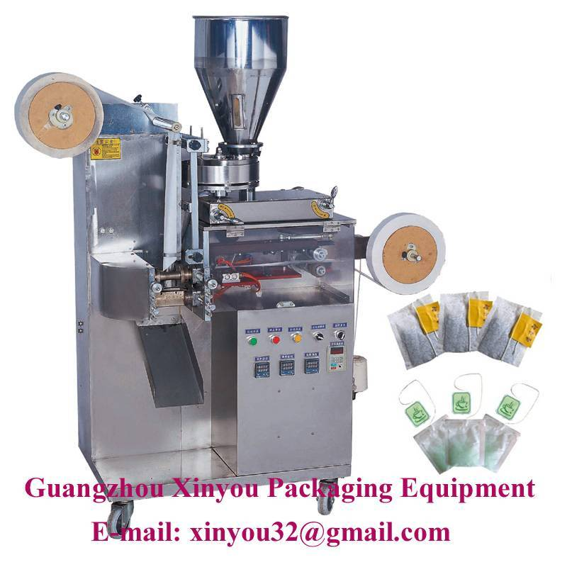 Autoamtic tea bag with string and label packing machine