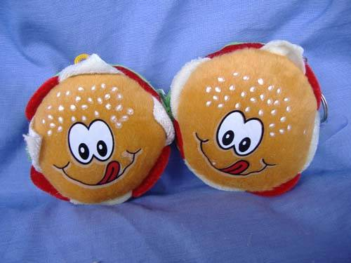 plush hamburger toys
