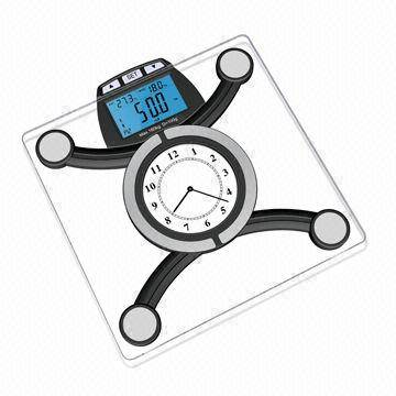 Wireless Bluetooth Body Fat Scale for iOS with 8mm Tempered Safety Glass Platform