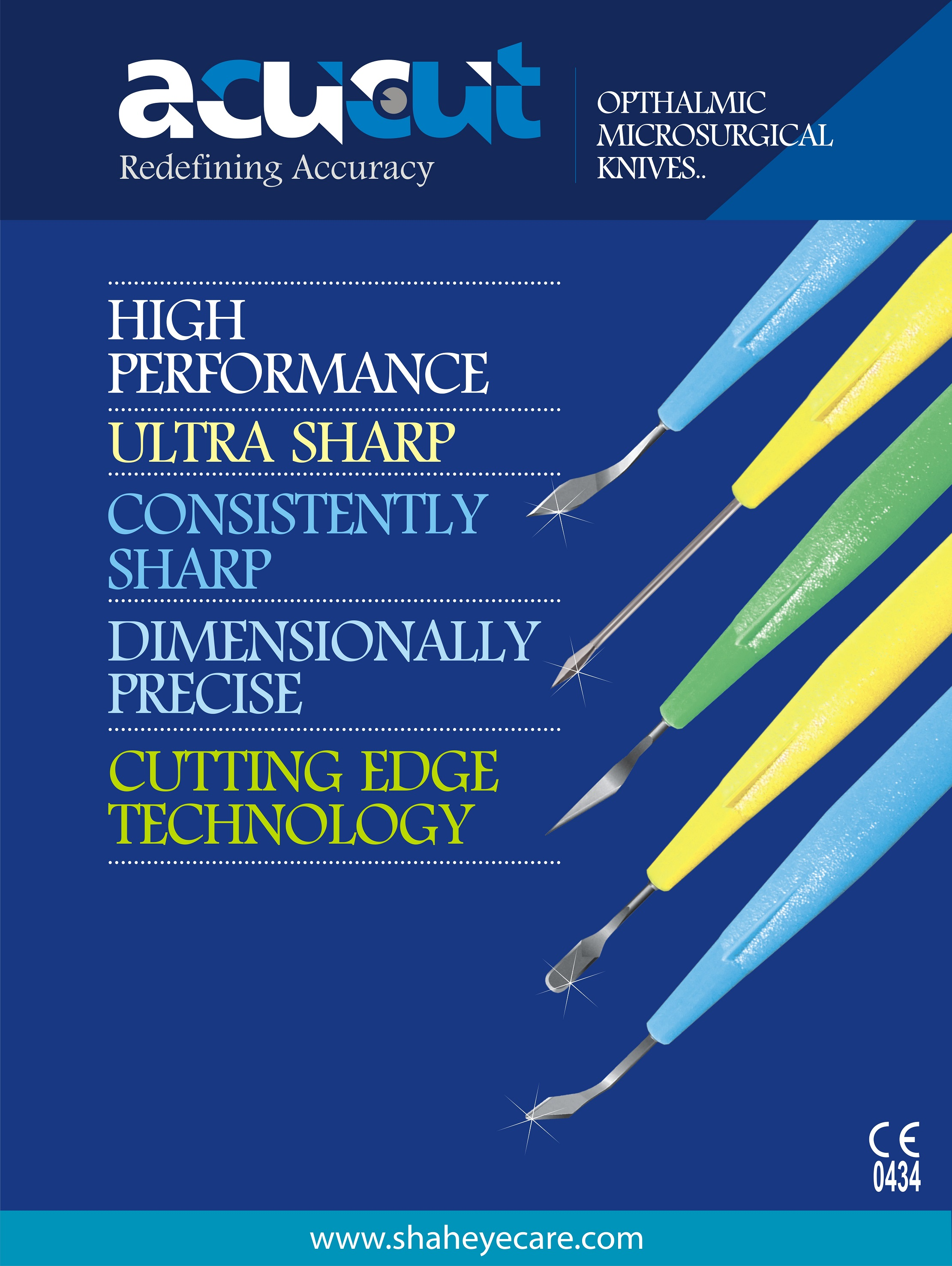 Ophthalmic micro surgical knives blades