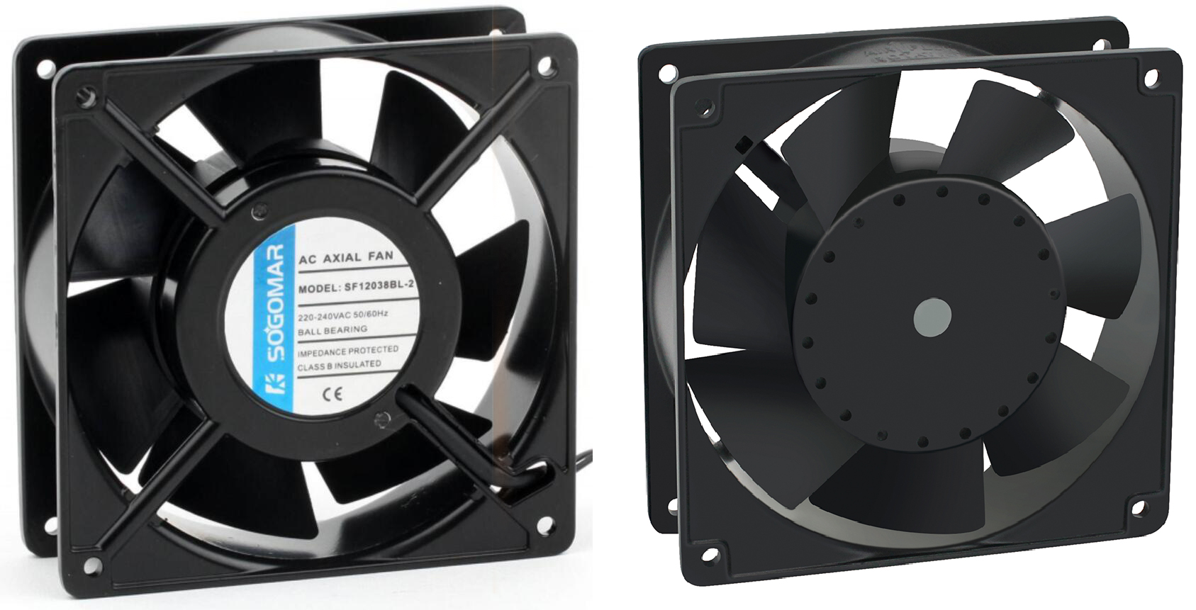 sell axial fan AC/DC fan with plastic and metal blades
