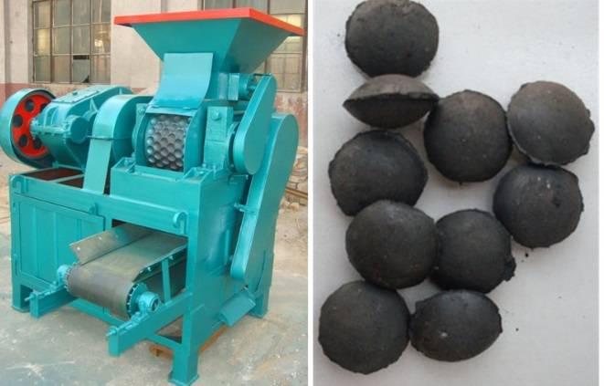 Pillow shape charcoal briquette machine