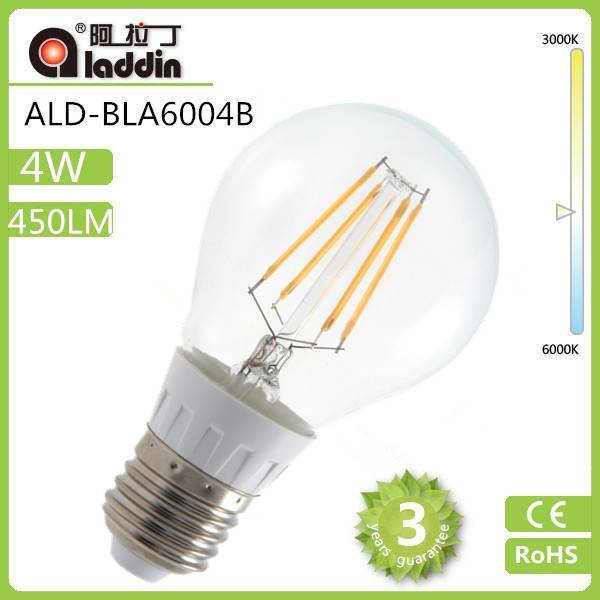 2014 top sale 4W LED Filament Bulb 110LM/W with 360 degree