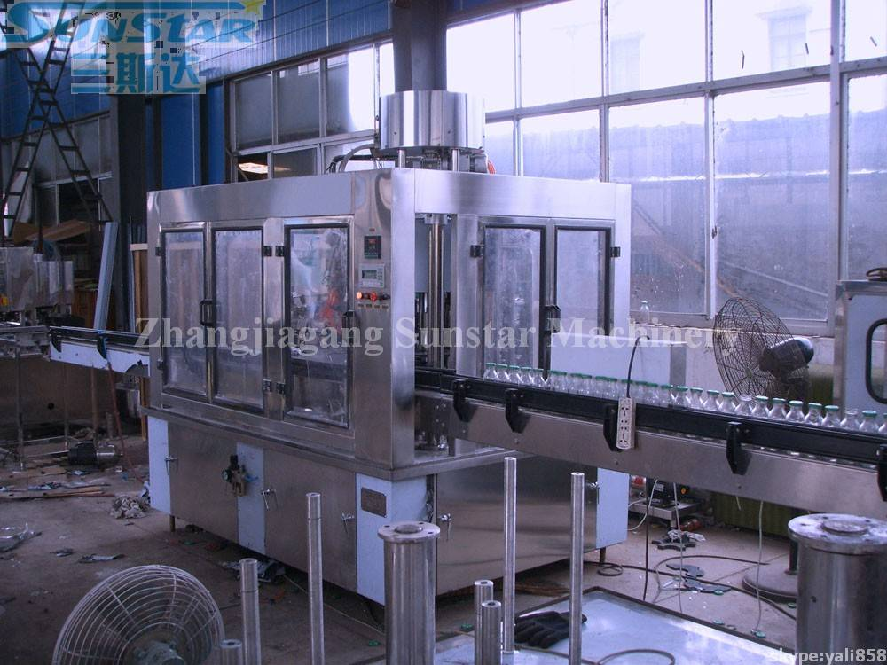 Glass Bottle Juice Beverage Hot Bottling Machine Monoblock