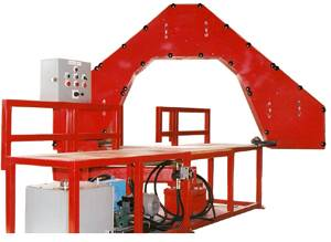Plastic pipe bandsaw