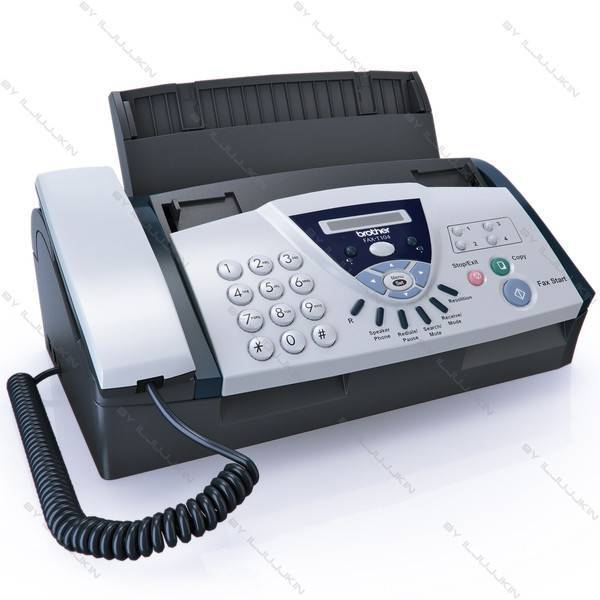 brother fax 575 ribbon transfer personal fax machine with phone and