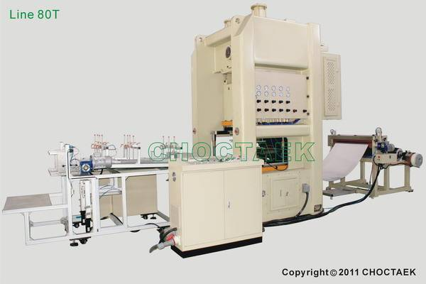 Aluminium foil container production line 80T