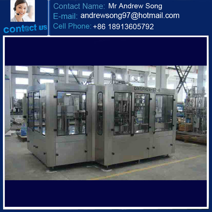 Automatic 3 In 1 PET Soft Drink Filling Production Line/Carbonated Filling Production Line