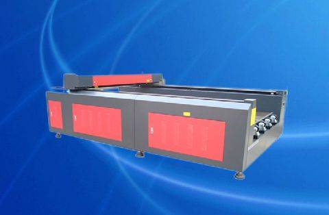 TS1325 Flat Bed Laser Cutting Machine For Cloth