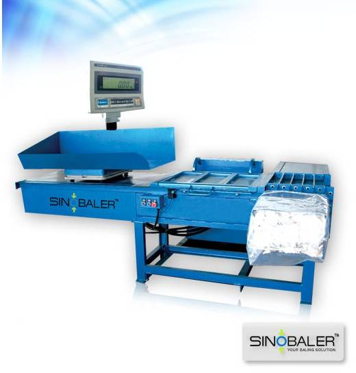 Scale Weighing Horizontal Bagging Baler, Automatic hydraulic baling machine